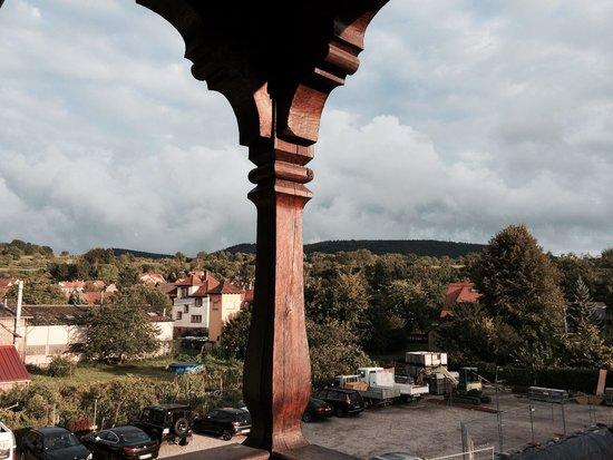 Auberge du Cheval Blanc: Vue de la terrasse QUARTZ ROSE