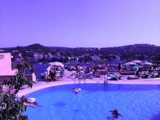 Club Santa Ponsa: vue de la terrasse du bar