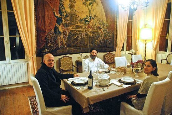 Chateau Lavergne-Dulong - Chambres d'hotes : Our private dinner