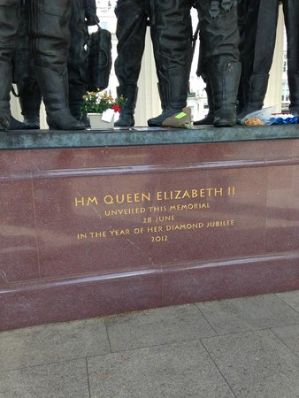 Bomber Command Memorial: Opened by HM Queen Elizabeth II