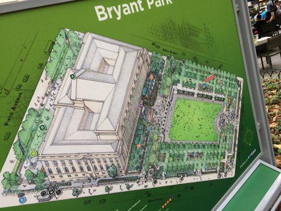 Bryant Park : Pianta del parco