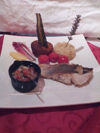 Le Baron Gourmand: Cabillaud et sa marinade, avec riz et légumes