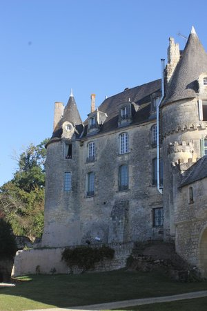 Chateau de La Celle Guenand : The kids had a room in the tower at the left.