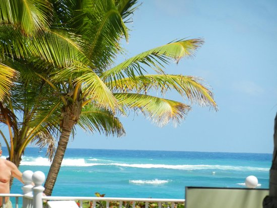Hotel Riu Palace Punta Cana : View of the beach from the pool bar