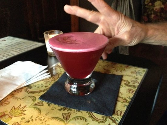 The Dogwood : Beet and ginger martini