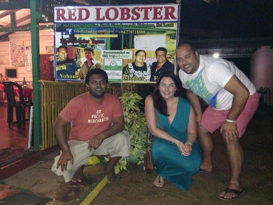 Red Lobster Tours Spa & Restaurant: Meeting Yohan at Red Lobster