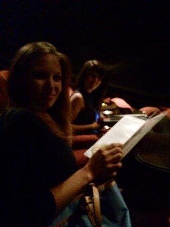 Studio Movie Grill: perusing menus