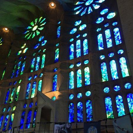 Basilica of the Sagrada Familia: Some of the beautiful windows in Sagrada Familia