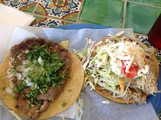 Maize Mexican Grill: ribeye taco and chicken quesadilla