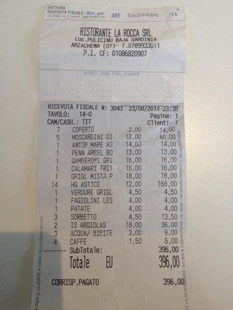 Arzachena, Włochy: 2 porzioni di Astice 168 euro.... Rapina