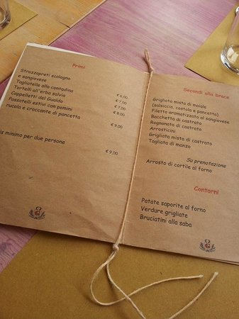 Agriturismo Il Gualdo di Sotto : menù