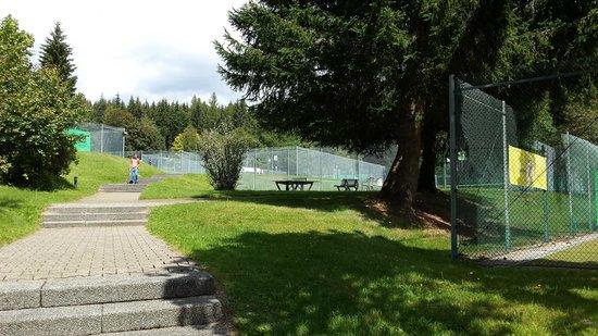 Vier Jahreszeiten am Schluchsee: Extérieur côté tennis