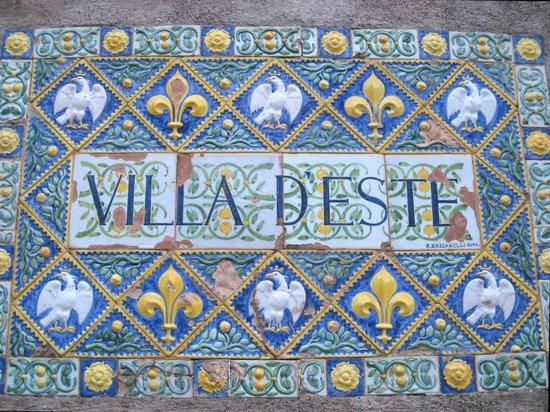 Villa d'Este : One has arrived
