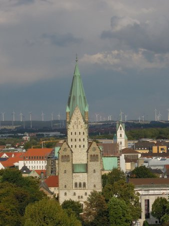 Paderborn Cathedral (Dom zu Paderborn): As visible from my hotel window