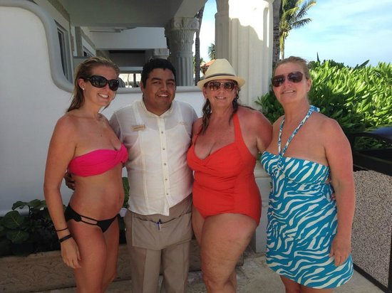 The Royal Playa del Carmen: Mario with us girls.