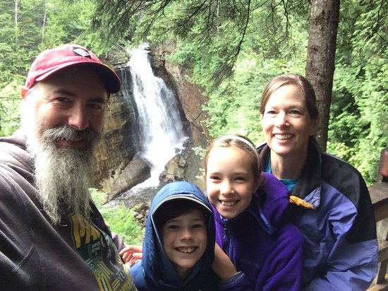 We Four SktrentWoods at Miners Falls Pictured Rocks NLS August 2014 IMG_7134