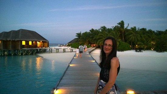 Vakarufalhi Island Resort: View from water bungalow jetty early evening