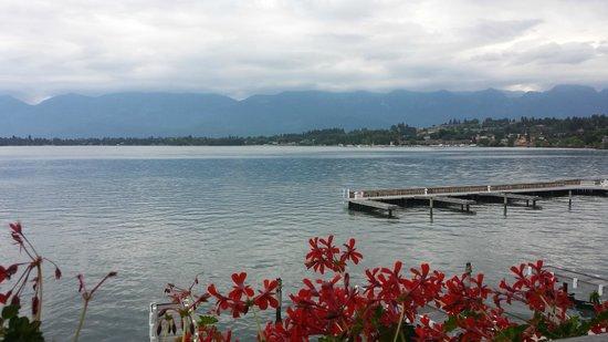 KwaTaqNuk Resort & Casino: View of Flathead Lake from the balcony