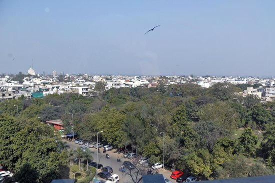 The Suryaa New Delhi: View from our room on second floor.