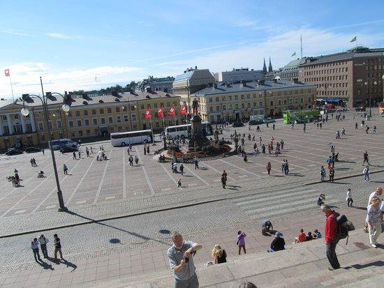 Cathédrale luthérienne d'Helsinki : вид сверху