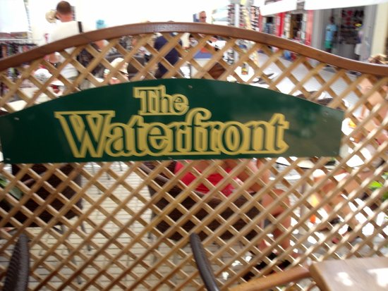 The Waterfront: Restaurant Sign