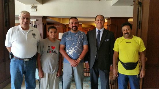 Hotel Yak & Yeti: Our group with Hotel General Manager Mr. Philip