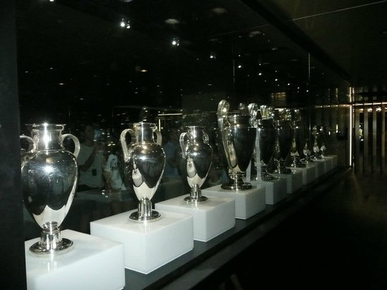Stadio Santiago Bernabeu: European trophies