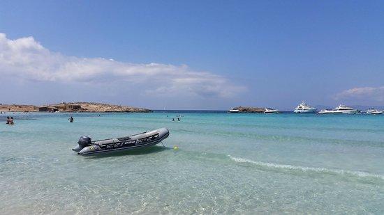 Plage de Ses Illetes : beach at illetes Formentera