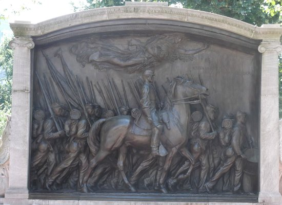 Boston Common : Robert Gould Shaw Memorial
