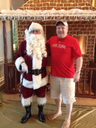 The Ritz-Carlton, Grand Cayman: My husband and Santa! Lol