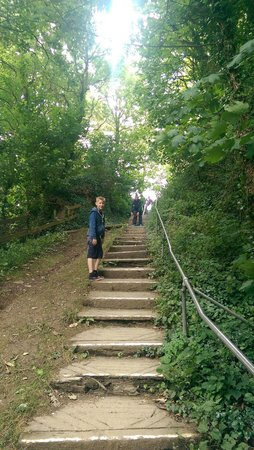 Sandaway Beach Holiday Park: 76 steps down to the private beach