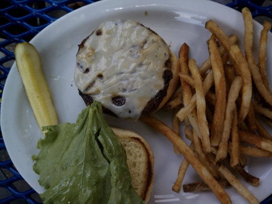 The Rookery: Burger w/ swiss  $9