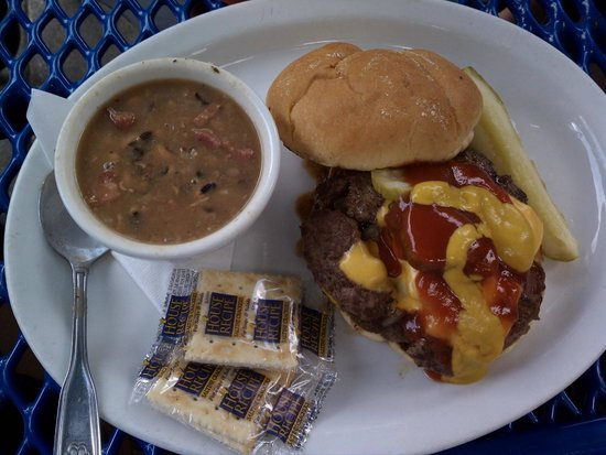 The Rookery: $8.50  Rookery Burger - Subed fries for soup.