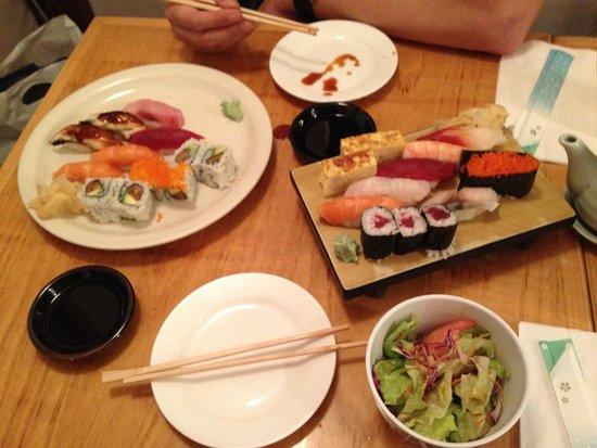 NADA Sushi Restaurant INC : Diverse Sushi Auswahl