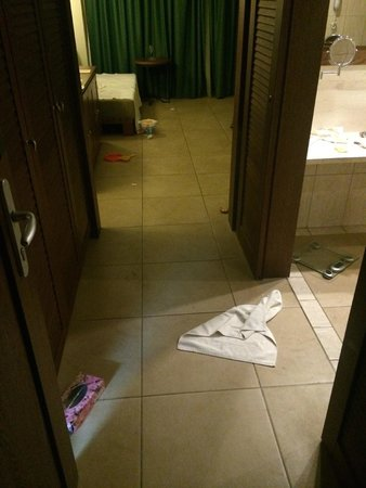 Cavo Spada Luxury Resort & Spa: Rommet vi fikk da vi ankom