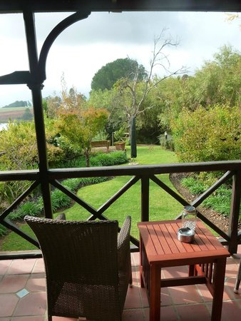 Angala Boutique Hotel and Guest House: View on the semi-private garden