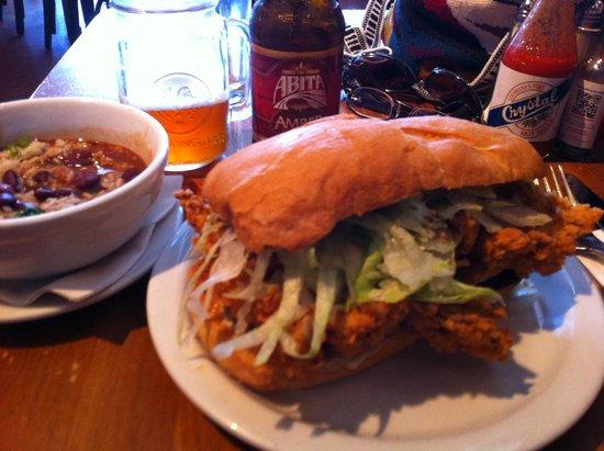 angelines louisiana kitchen fried chicken poboy - Angelines Louisiana Kitchen