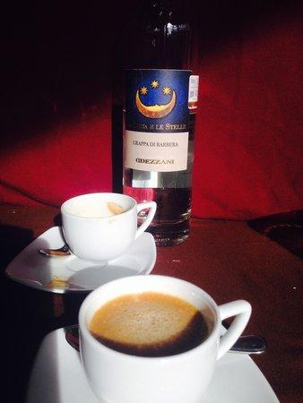 Invita Bistro: Espresso with Italian grappa? Perfect after dinner.