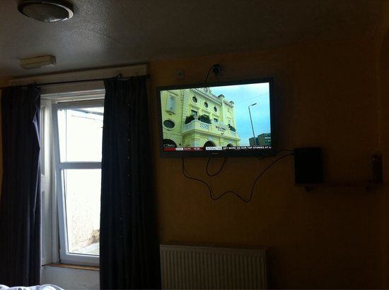 The Dolphin Hotel: Our room- with an absolutely massive tv!