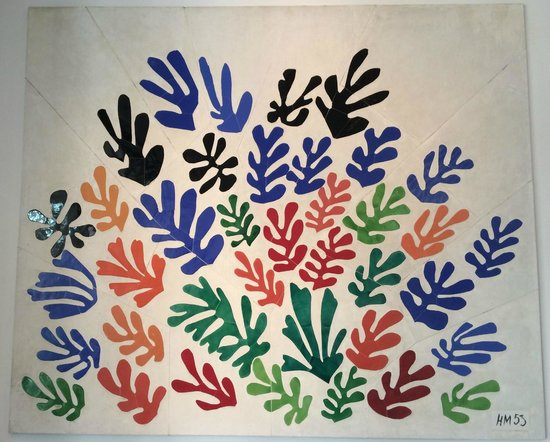Los Angeles County Museum of Art: Matisse's Le Gerbe. in the central atrium