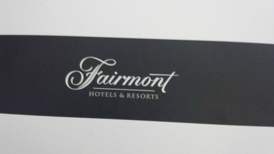 The Fairmont Palliser: Welcome letter