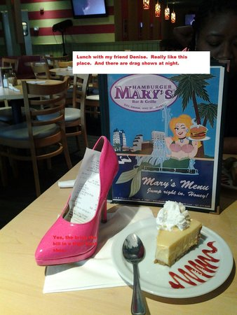 Hamburger Mary's: The bill come sin a High Heal shoe!