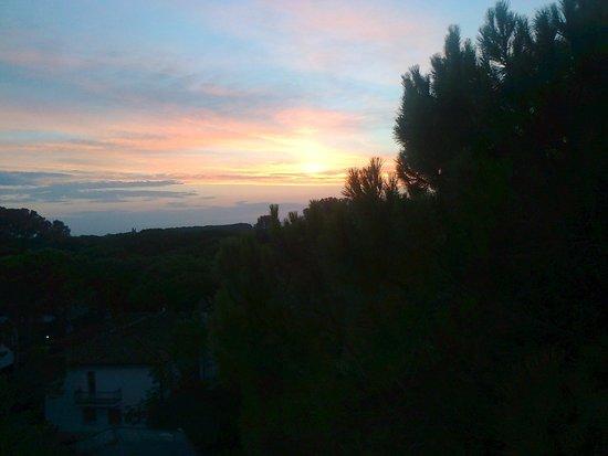 Hotel President Lignano: Vista dalla terrazza della camera al tramonto
