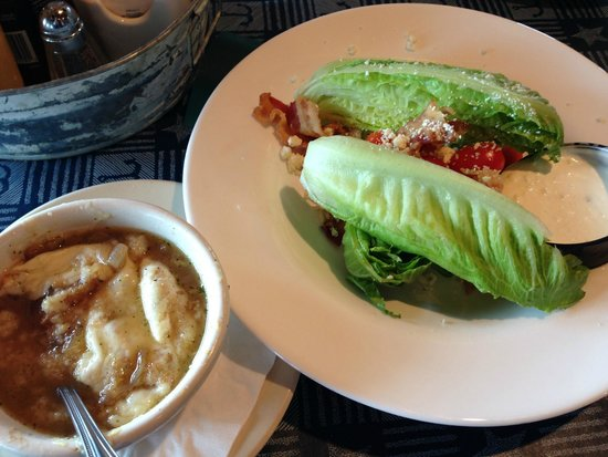 Knot Just a Bar : Wedge salad and French Onion Soup