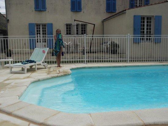 Le Logis des Oiseaux : Fenced pool