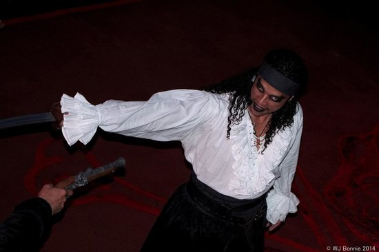 Ocean Adventures - Caribbean Buccaneers Dinner Show: close up of the duel