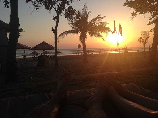 Anantara Seminyak Bali Resort: View from Sun bed