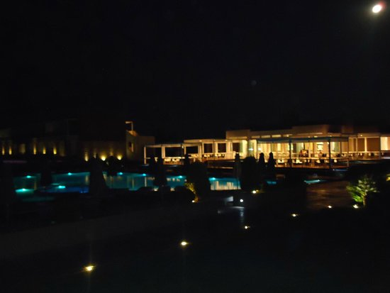 Pelagos Suites Hotel: View from room at night