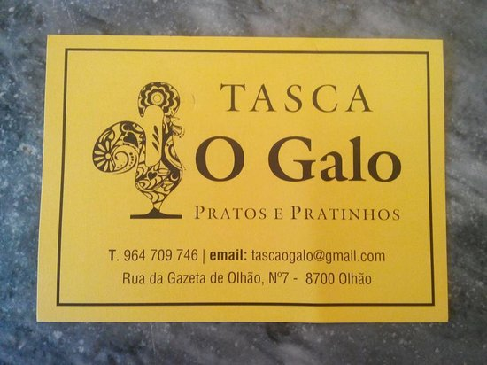 Tasquinha O Galo: For reservations