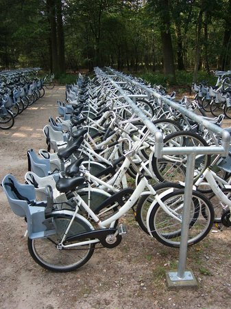De Hoge Veluwe National Park: free white bikes at entrance